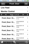 eyeZM on the iPhone, event view