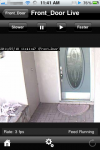 eyeZM on the iPhone, live monitor view