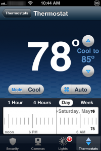 iPhone Pulse thermostat control