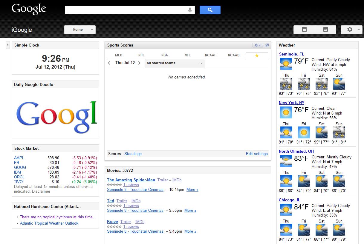 Replacing iGoogle with … My Yahoo? | chmod 644