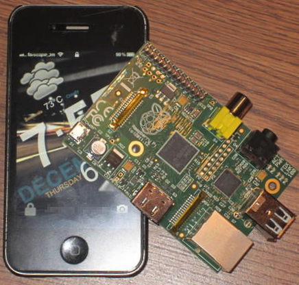 Raspberry Pi vs the iPhone 4S