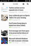Feedly on the iPhone