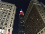 Empire State Building dressed up for Memorial Day