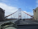 driving over Golden Gate