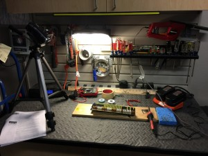 my workbench for the build