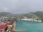 rainbow over Tortola