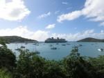 Fantasy docked in St. Thomas
