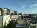 view from our hotel room in SLC