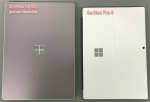 Laptop vs. Pro 4 - top