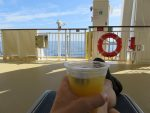 relaxing on deck 7