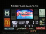 final score, Indians beat Angels