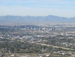 downtown Phoenix from the summit