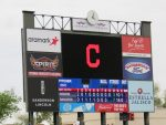final score, Indians lose to Rangers