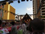 rooftop luau stage