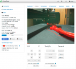 Control tab with webcam