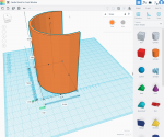 designing the solution in Tinkercad