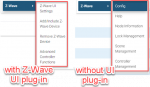 Z-Wave menu differences (HS4 vs HS3)